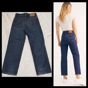 Cropped Style Levi's Jeans